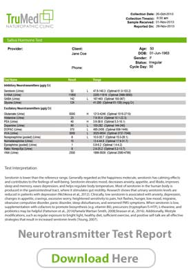Neurotransmitter Sample Report